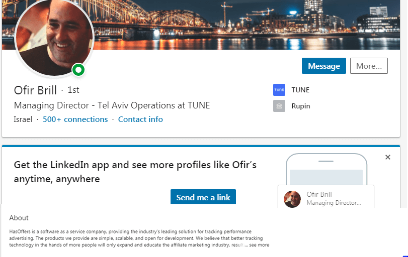 Create and optimize your profile