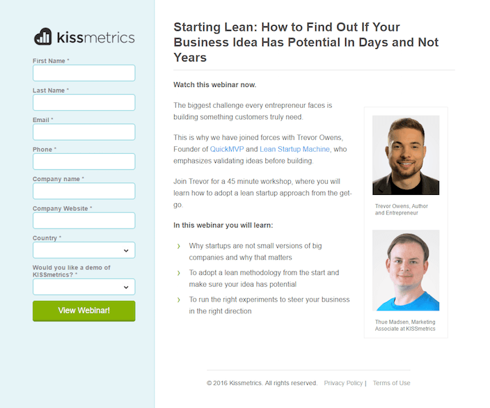 Set Up a Targeted Landing Page