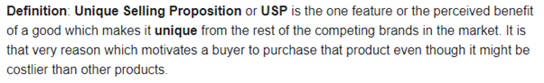 The True Definition of a Unique Selling Proposition